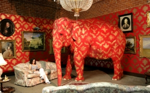 pink elephant in a room